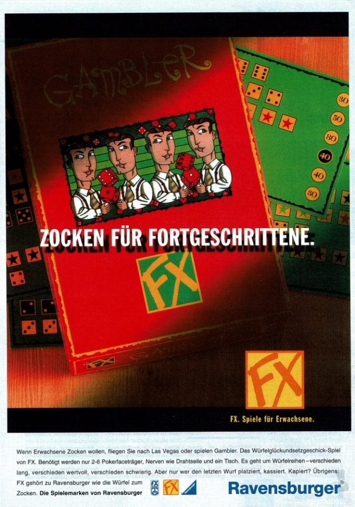 "FX (Ravensburger) - B2C-Produktanzeige ""Gambler"" I Agentur: Klaar Kiming"