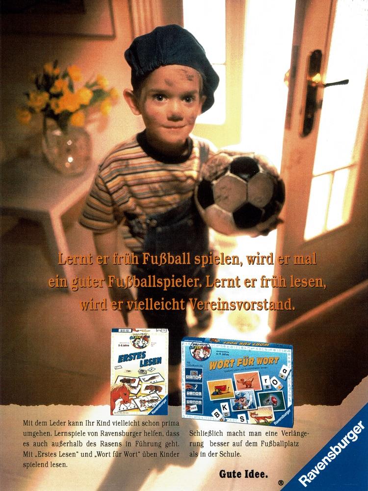 """Ravensburger - B2C-Kategoriewerbung für """"Lernspiele"""" I Motiv: Fußball I Agentur: Springer & Jacoby"""