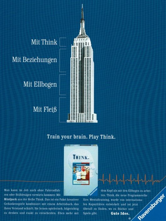 "Ravensburger - B2C-Produktwerbung ""THINK-Mentaltrainer"" I Motiv: ""Empire State Building"" I Agentur: Springer & Jacoby"
