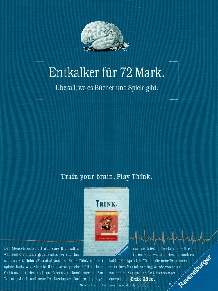 """Ravensburger - B2C-Produktwerbung """"THINK-Mentaltrainer"""" I Motiv: """"Entkalker"""" I Agentur: Springer & Jacoby"""