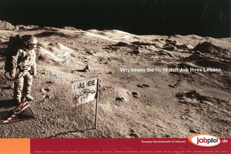 """jobpilot - B2C-Awareness Kampagne (Relaunch) I Motiv: """"Astronaut"""" 2/1-Seite I Agentur: Ogilvy"""
