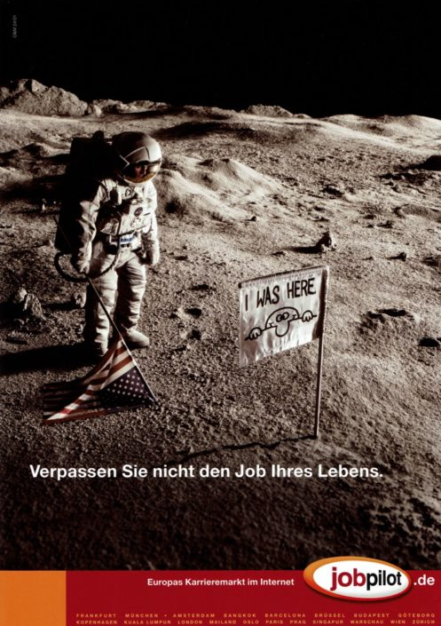 """jobpilot - B2C-Awareness Kampagne (Relaunch) I Motiv: """"Astronaut"""" 1/1-Seite I Agentur: Ogilvy"""