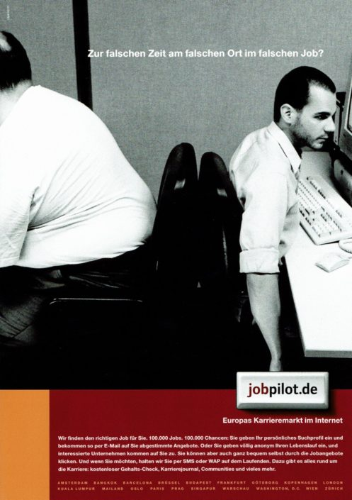jobpilot - B2C-Awareness Kampagne I Motiv: Büro I Agentur: Ogilvy