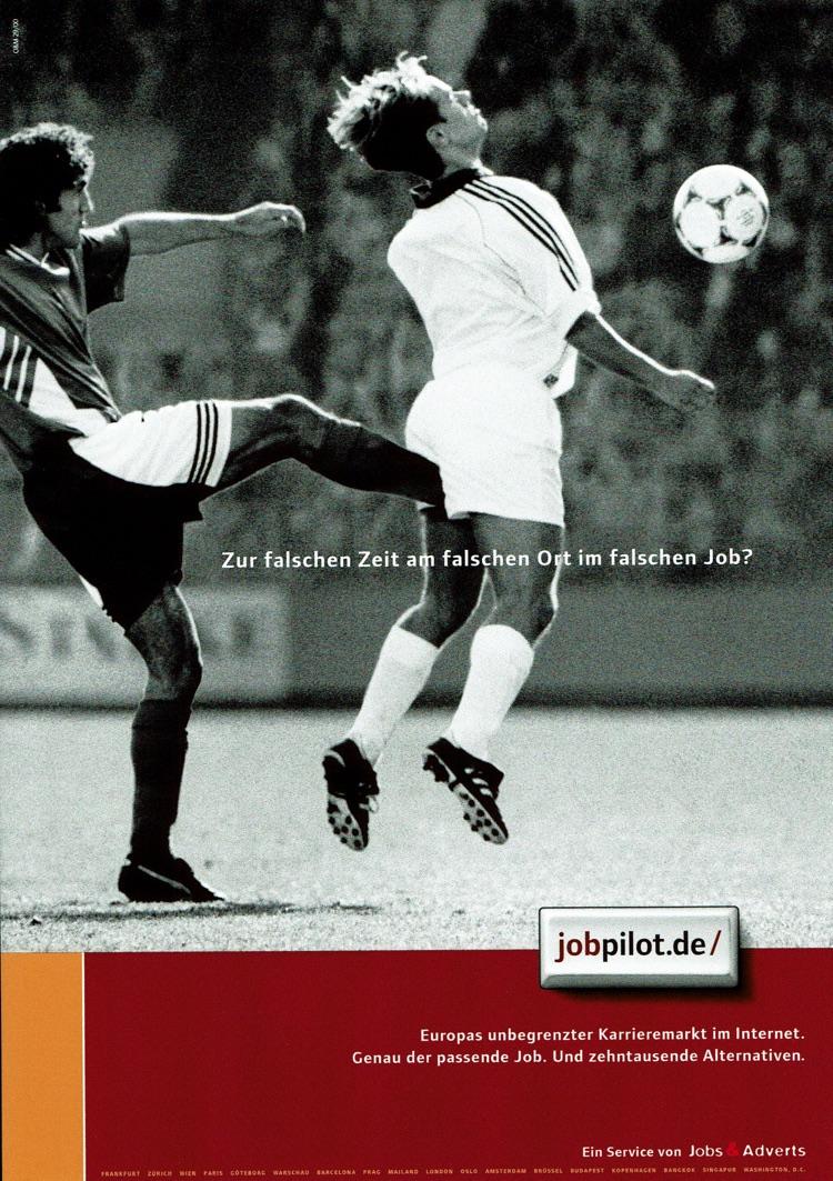 jobpilot - B2C-Awareness Kampagne I Motiv: Fußballer I Agentur: Ogilvy