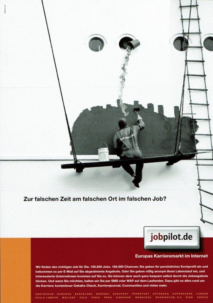 jobpilot - B2C-Awareness Kampagne I Motiv: Maler I Agentur: Ogilvy