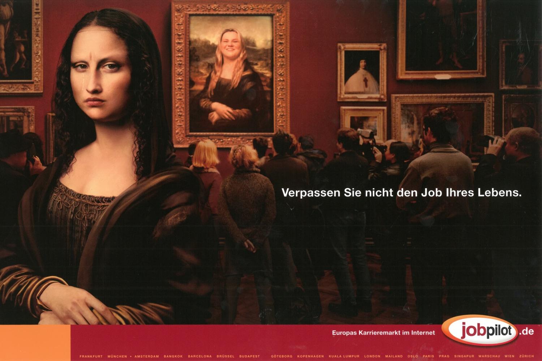 """jobpilot - B2C-Awareness Kampagne (Relaunch) I Motiv: """"Mona Lisa"""" 2/1-Seite I Agentur: Ogilvy"""