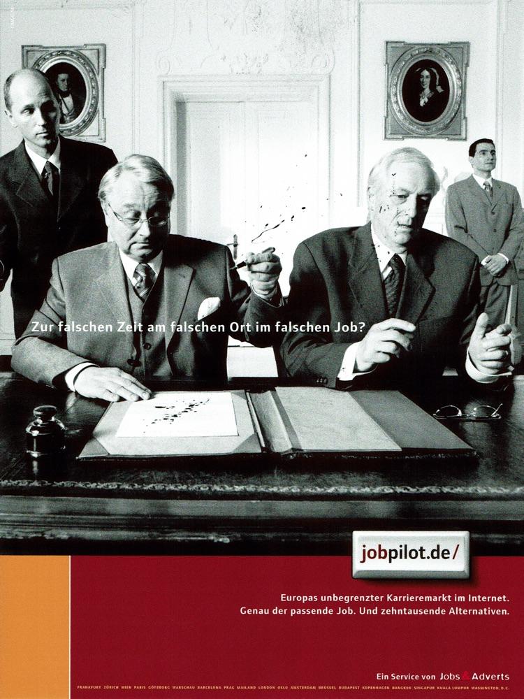 jobpilot - B2C-Awareness Kampagne I Motiv: Tinte I Agentur: Ogilvy